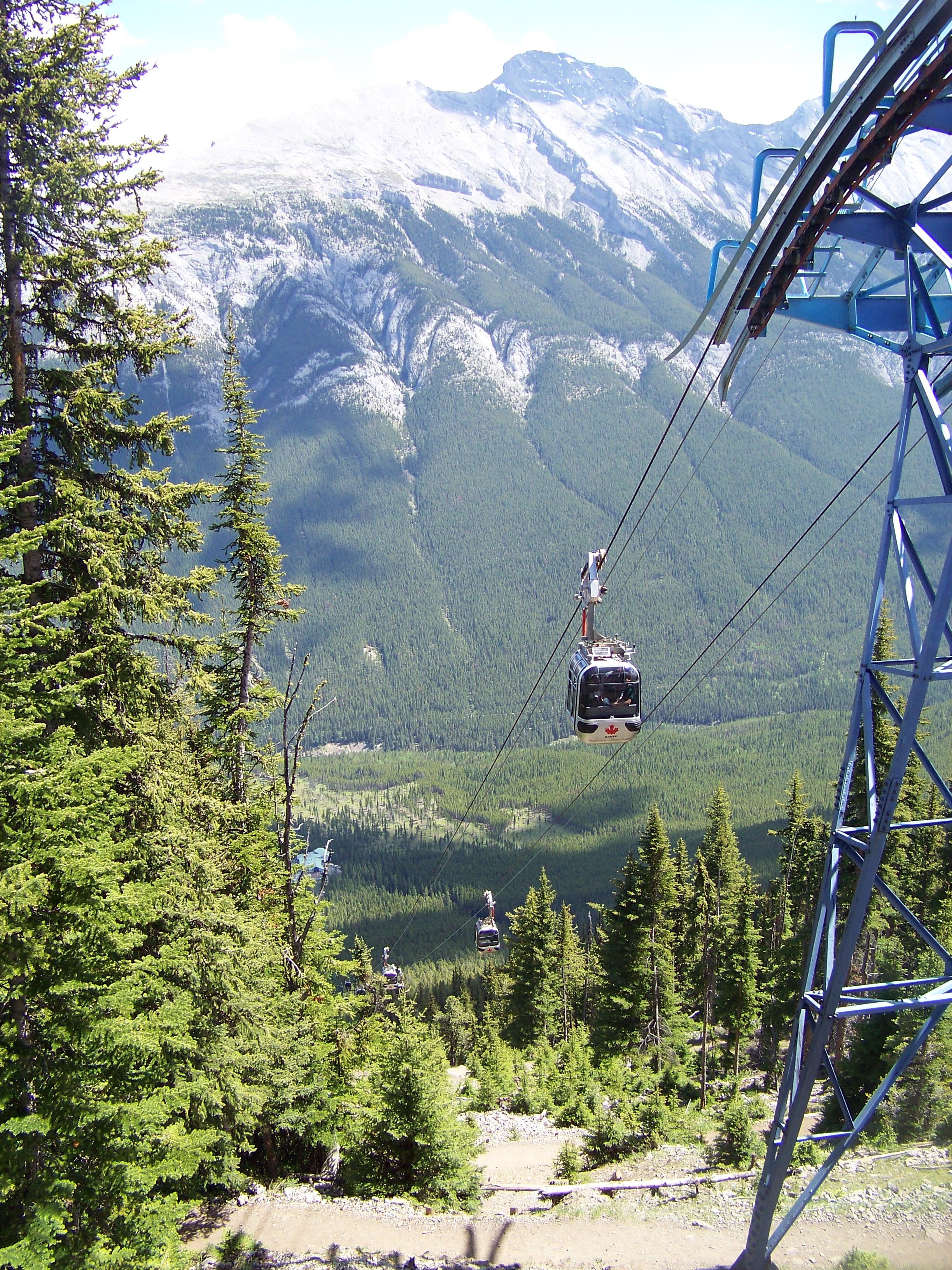 summit of the Sulphur mountain