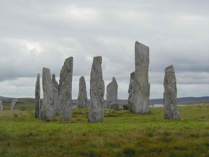 stones arranged in circles